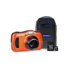 Praktica Luxmedia WP240 Waterproof Camera Kit with 8GB microSD Card & Case