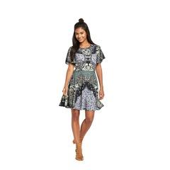 Miss Selfridge Sophia Mirror Print Dress